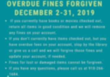 ovedue fies forgiven during the month of December