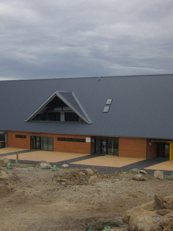 Colorbond pitched metal roof