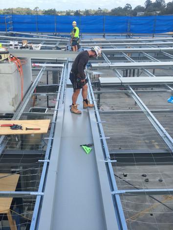 New metal roof