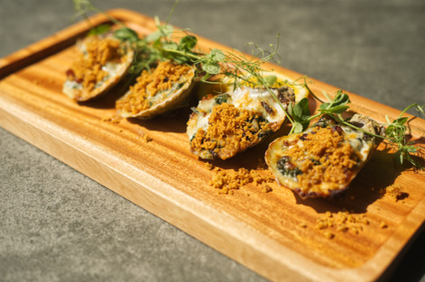 Oysters Gratinee
