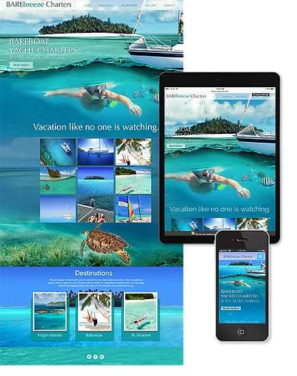 Responsive website design, mobile optimized, Barebreeze