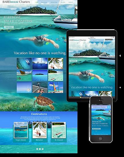 Responsive website design, mobile optimized, Barebreeze