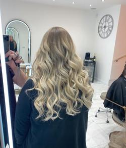 Ashy blonde & Curls for _daniellenicoleb