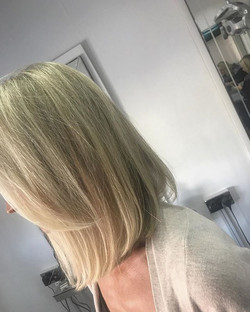 Classy long bob with soft blonde tones ☝️_Cut and blowdry by lawson _Colour by Jill