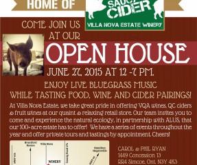 Open House at Villa Nova: Cider, Bluegrass & Nature June 27
