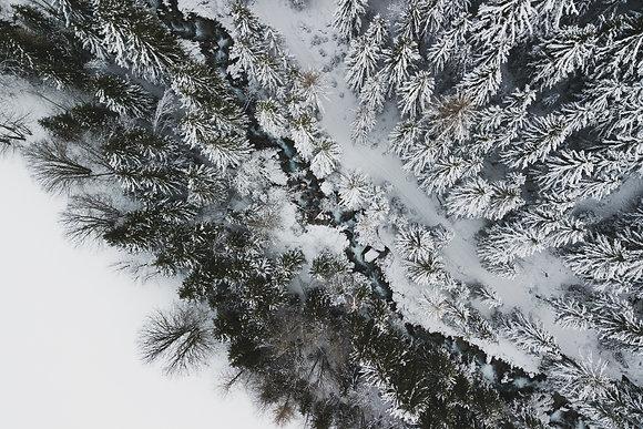 L'hiver vu du ciel