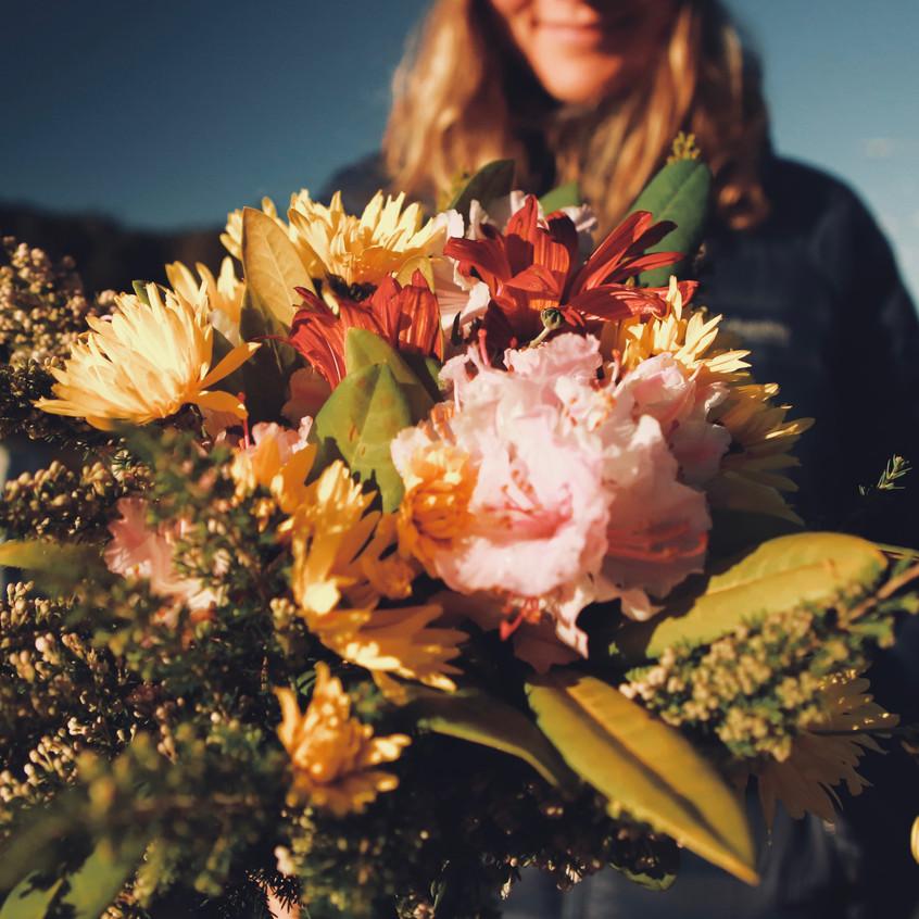 Les fleurs que l'on trouve là-bas