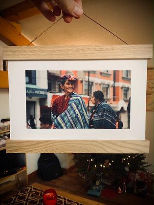 Impression Scène de vie Guatemala sur papier canson en A5