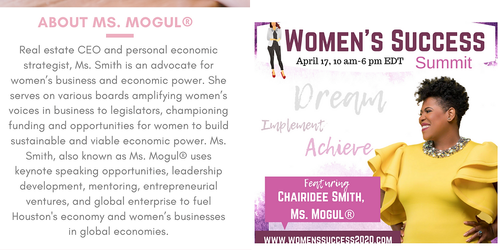 Interview with The Women's Success Summit Featuring Ms. Mogul®