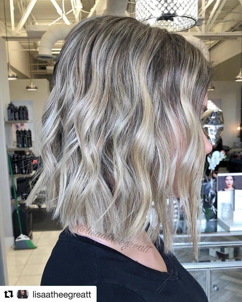 Medium Haircut Balayage @Lisaatheegreatt