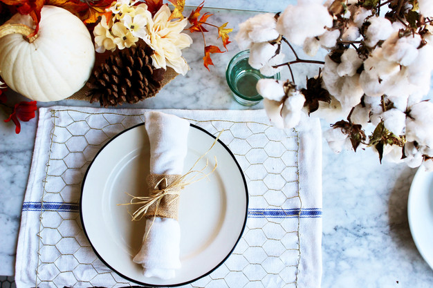 Thanksgiving Decor - Chicken Wire Placemats