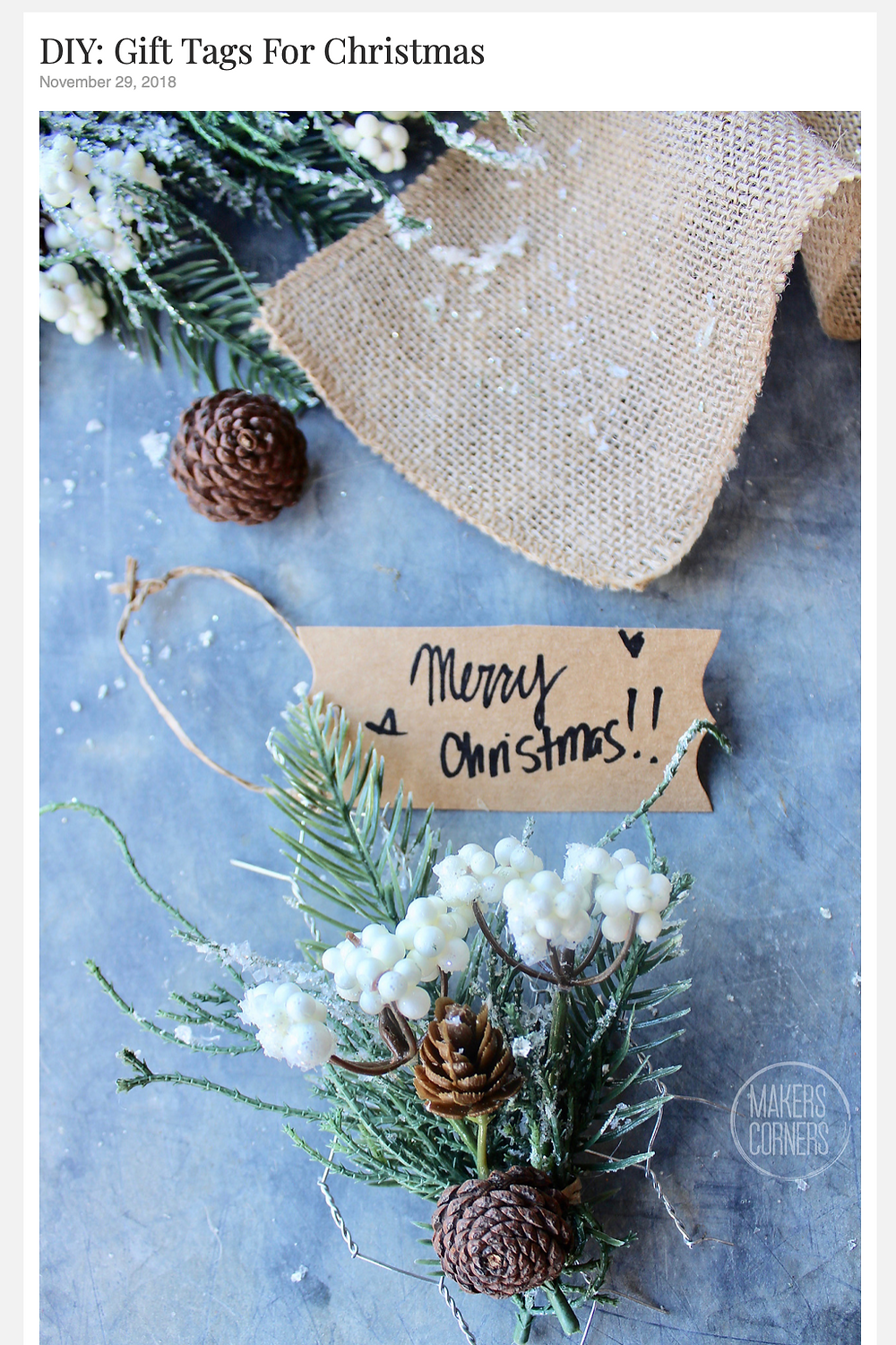DIY Holiday Gift Tags