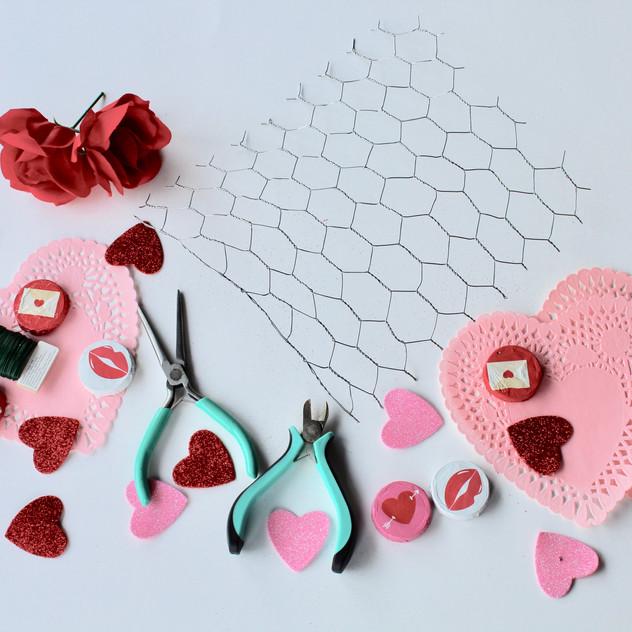 Valentine's Day craft supplies