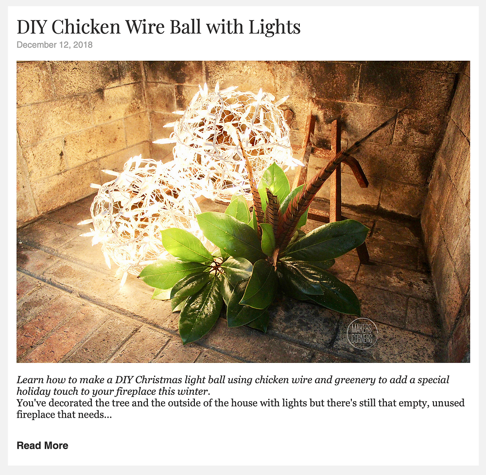 DIY Chicken Wire Ball with Lights