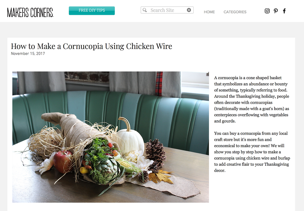 How to Make a Chicken Wire Cornucopia