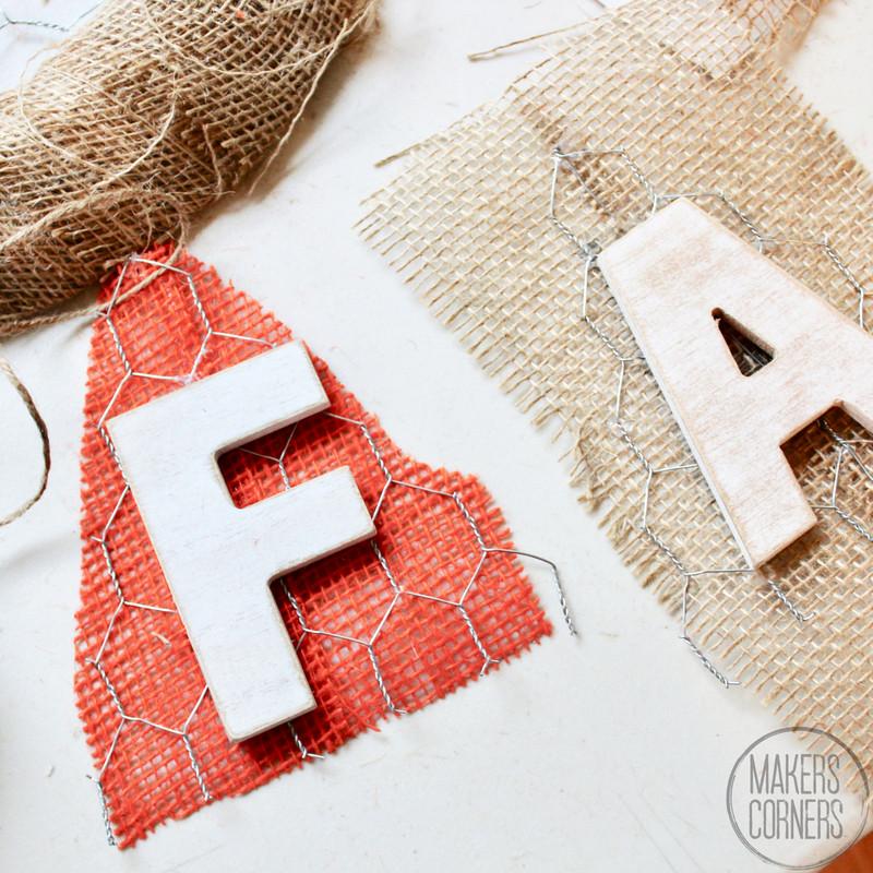 Fall DIY Chicken Wire Banner