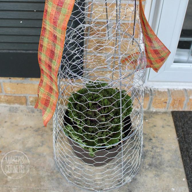 How to Make a Chicken Wire Cloche