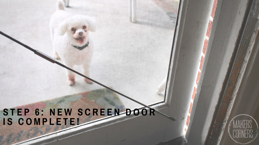 Finished Screen Door DIY