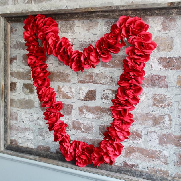 Valentine's Day DIY Flower Heart