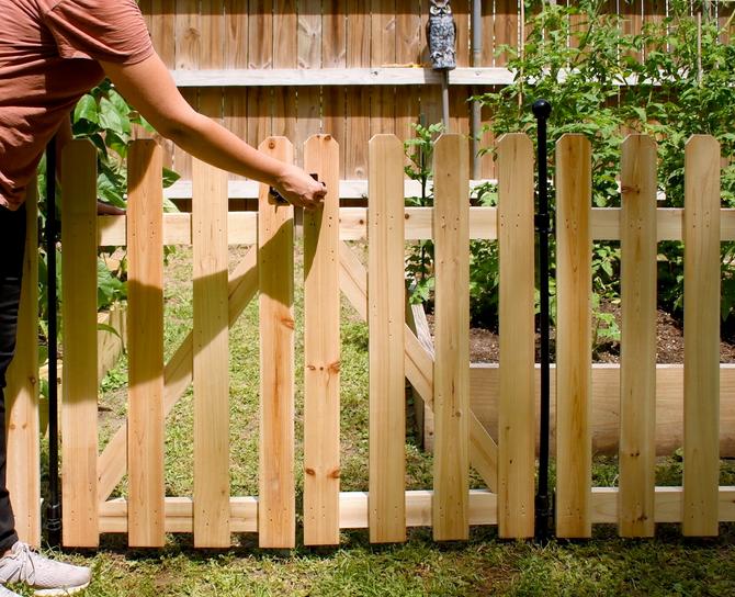 How to Install the No Dig Cedar Fence