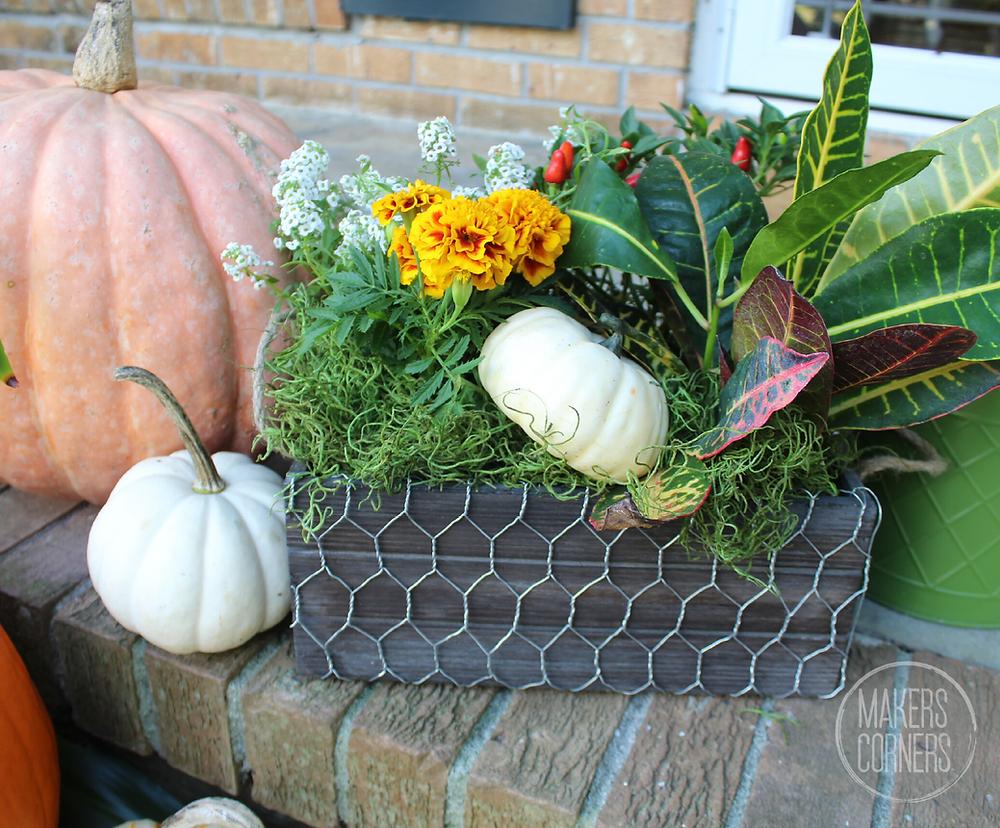 Thanksgiving Decor Flower Box
