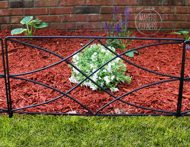 Spring Garden Makeover with Flower Bed Borders