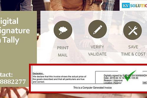 Digital Signature on Sales Invoice