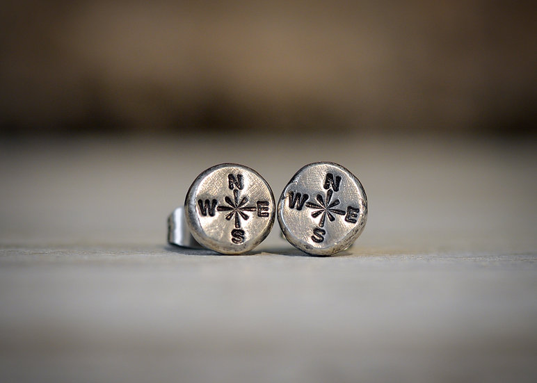Compass Studs - Sterling Silver