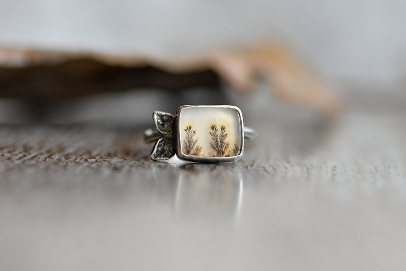 Dendritic Flower Ring - Size 6.5