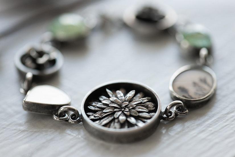 Spring Things Link Bracelet - Sterling Silver