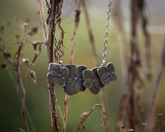 Sterling Silver Hydrangea Necklace