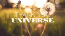 THANK YOU UNIVERSE