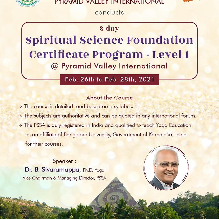 Spiritual Science Foundation Certificate Program - Level 1