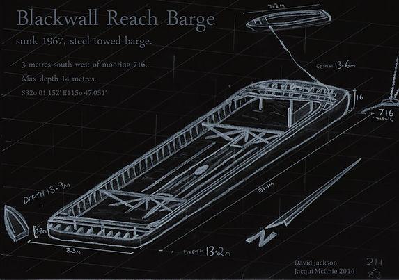Black Wall Reach Barge  Shipweck Western Australia