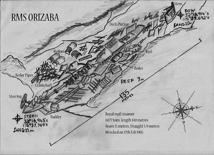 Orizaba  Shipweck Western Australia