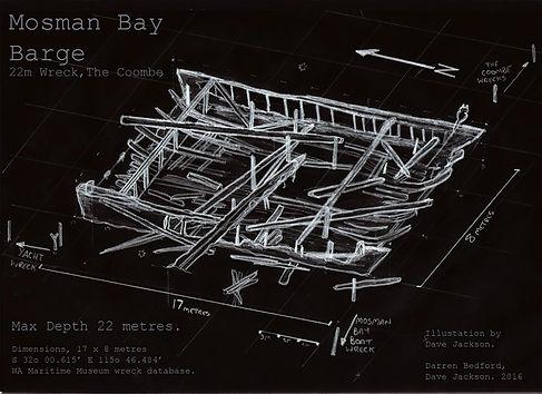 Mosman Bay deep barge  Shipweck Western Australia