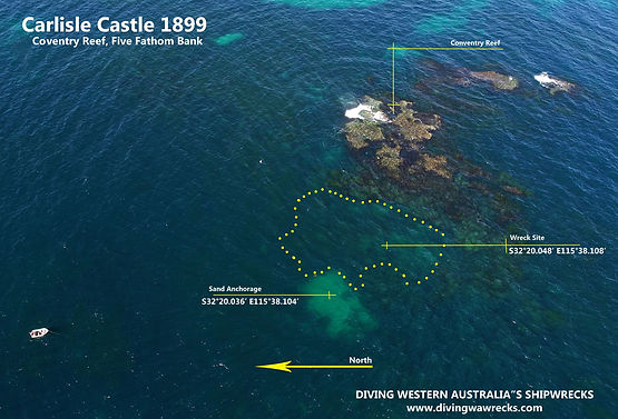 Carlisle Castle Shipweck Western Australia