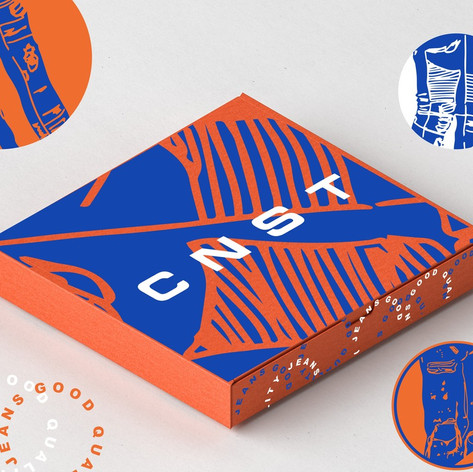Packaging for CNST Jeans