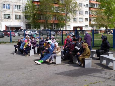 Праздник двора, посвященный Дню Победы советского народа над фашистской Германией