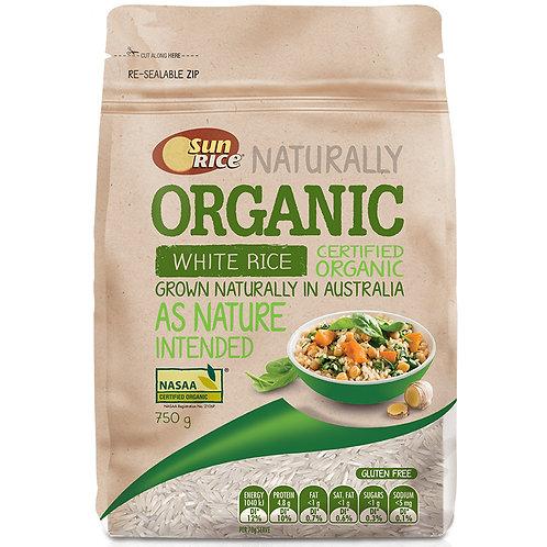 SunRice Australian Organic White Rice 750g