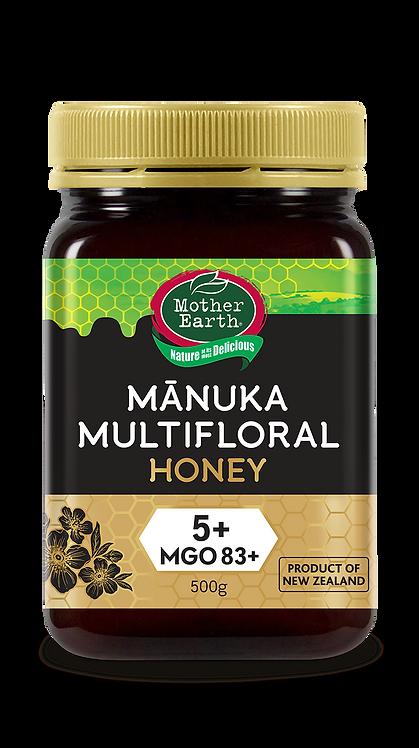 Mother Earth Mānuka Multifloral Honey 5+ MGO 83+ (500g)