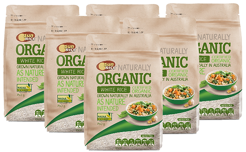 SunRice Australian Organic White Rice (CARTON) 6X750