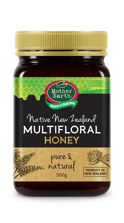 Mother Earth Native New Zealand Multifloral Honey (500g)