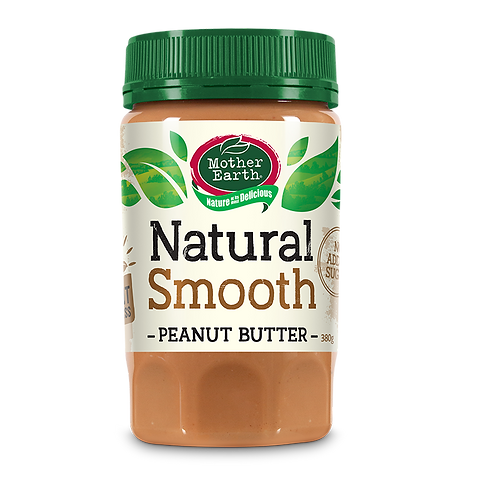 Mother Earth Peanut Butter Smooth (No added Sugar)