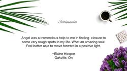 Testimonial Elaine Hooper