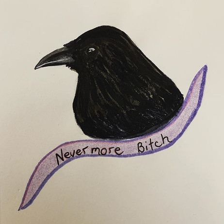 Watercolour Raven. Using some of my new