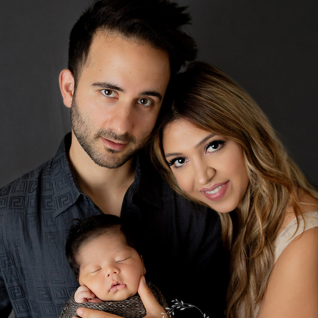 first family portrait at baby's newborn session