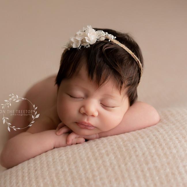 beautiful photograph of newborn baby girl from irvine california