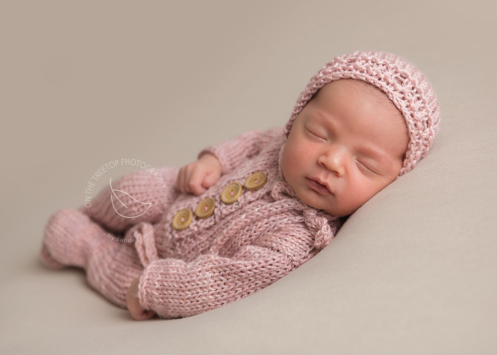 newborn portrait on neutral tones