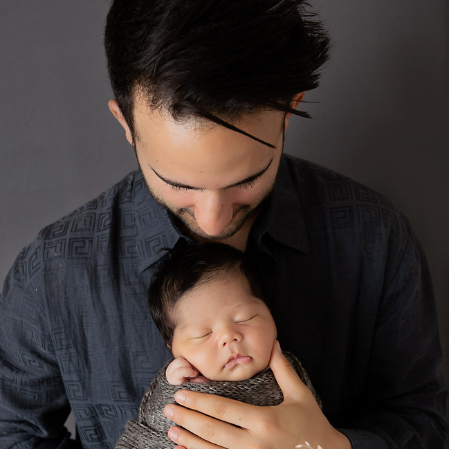 daddy and baby portrait from newborn sesison in aliso viejo